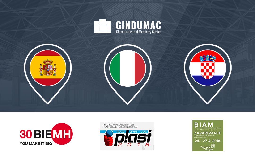 GINDUMAC auf europäischer Messe-Tour im Frühjahr 2018